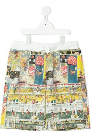 Lanvin TEEN comic-print shorts