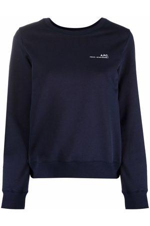 A.P.C. Women Sweatshirts - Logo-print cotton sweatshirt
