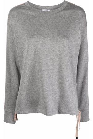 PESERICO SIGN Side-stripe glittered sweatshirt