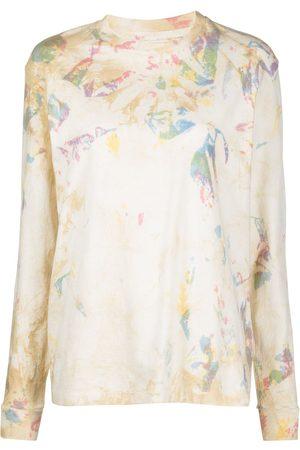 JOHN ELLIOTT Women Long Sleeve - Varsity abstract-print T-Shirt