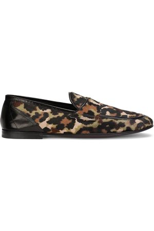 Dolce & Gabbana Leopard print calf hair loafers