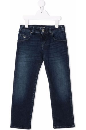 Emporio Armani Logo-plaque straight-leg jeans