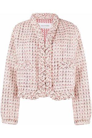 VALENTINO Braided chunky-knit jacket
