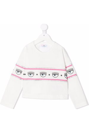 MONNALISA X Chiara Ferragni Logomani-tape sweatshirt