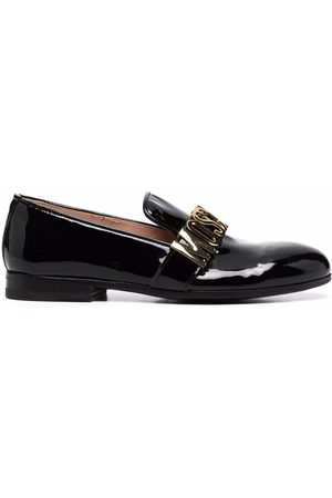 Moschino Women Loafers - Logo-plaque loafers