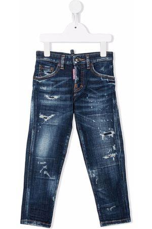 Dsquared2 Boys Slim - Distressed slim-cut jeans