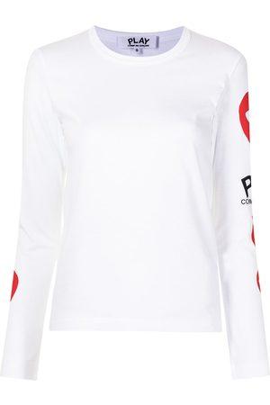 Comme des Garçons Heart-logo long-sleeve T-shirt