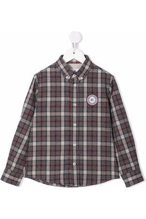Brunello Cucinelli Boys Tops - Checked cotton shirt