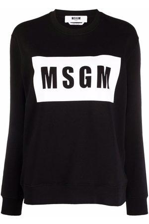 Msgm Logo-print cotton sweater