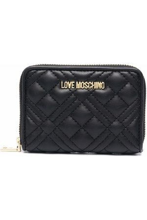 Love Moschino Quilted faux-leather logo wallet