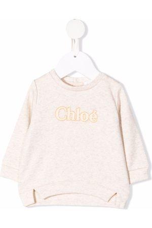 Chloé Glitter logo sweater