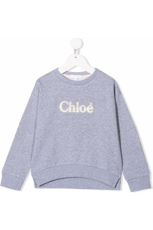 Chloé Girls Jumpers - Embroidered logo sweater