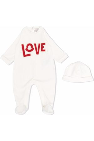 Moncler Love-embroidered cotton pajama