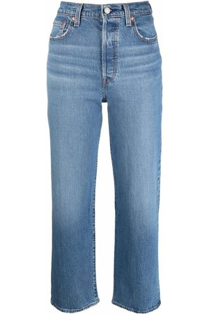 Levi's Ribcage high-rise cropped jeans