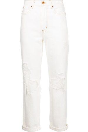 SLVRLAKE Dakota Destructed croppd jeans