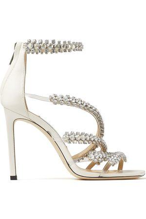 Jimmy Choo Crystal-embellished open-toe sandals