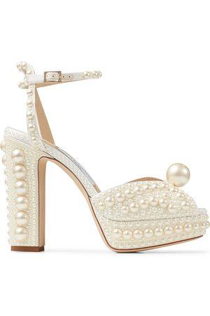 Jimmy Choo Pearl-embellished open-toe sandals