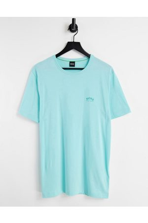 BOSS Athleisure Tee Curved logo t-shirt in mint
