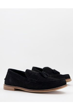 ASOS DESIGN Tassel loafers in suede with natural sole