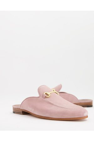WALK LONDON Terry bar backless mule loafers in suede