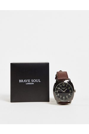 Brave Soul Men Watches - Oversized watch with black dial