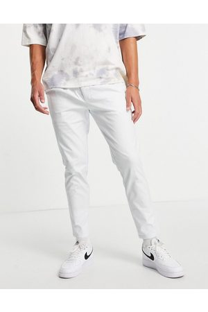 ASOS DESIGN Cigarette chinos with pleats in