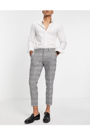 SELECTED Skinny fit suit trousers in check