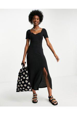 ASOS Women Maxi Dresses - Sweetheart neck ribbed maxi dress in