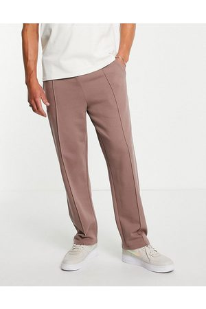 ASOS Smart straight leg joggers with pin tucks in washed