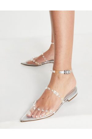 ASOS Loyal pointed ballet flats in clear