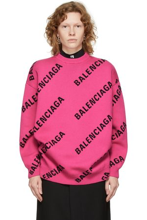 Balenciaga Allover Logo Sweater