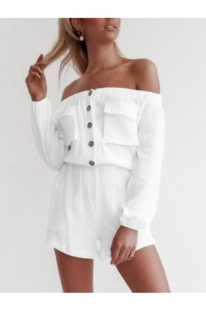 YOINS Off The Shoulder Long Sleeves Two Piece Outfit