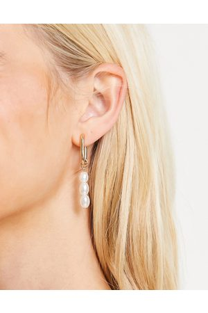 Accessorize Exclusive mismatched drop earrings in faux pearl and
