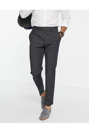 ASOS DESIGN Slim suit trousers in charcoal
