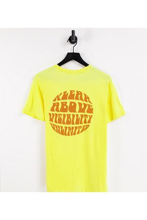 KAVU Unlimited back print t-shirt in yellow Exclusive at ASOS