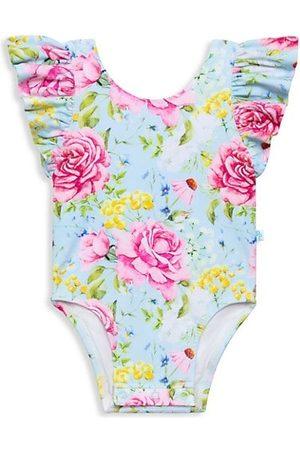 Posh Peanut Baby Girl's Sadie Ruffle One-Piece Swimsuit
