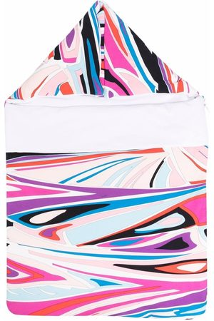 Emilio Pucci Junior Abstract-print snap-fastening sleeping bag