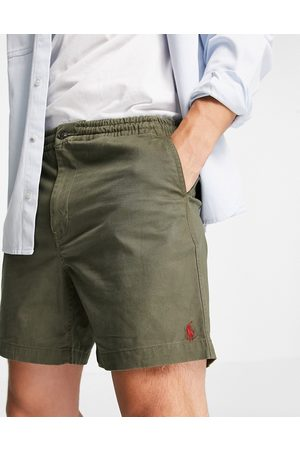 Polo Ralph Lauren Player logo twill prepster chino shorts in expedition olive