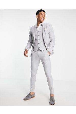 ASOS Men Skinny Pants - Wedding super skinny suit trousers in ice micro texture