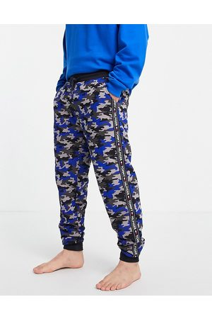 Tommy Hilfiger Lounge jogger camo with small logo in navy-Multi