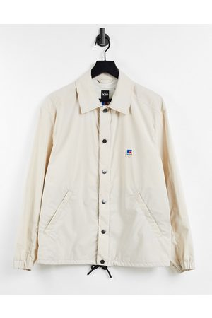 Boss X Russell Athletic Creed coach jacket in