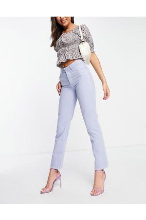ASOS DESIGN Women Straight - Mid rise '90's' straight leg jean in lilac