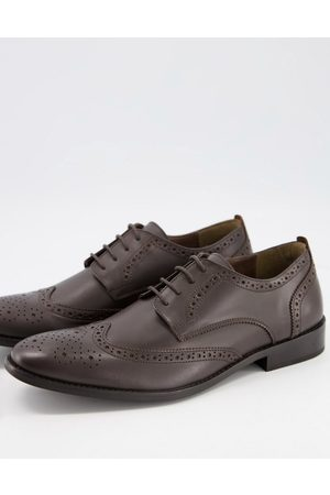French Connection Leather formal brogue in