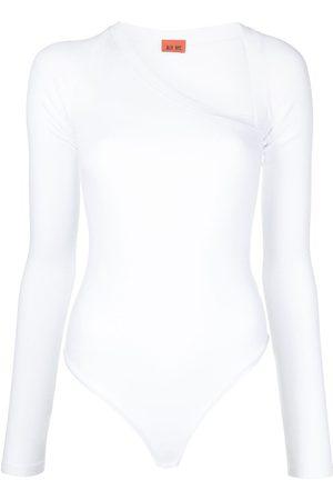 Alix NYC Women Long Sleeve - Stratton asymmetric neck jersey bodysuit