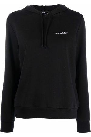 A.P.C. Logo-print long-sleeved hoodie