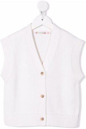 BONPOINT Sleeveless V-neck cardigan