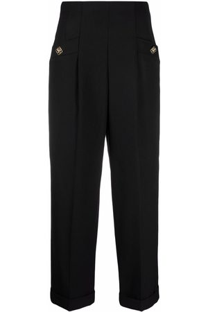 Sandro Paris High-waisted cropped trousers