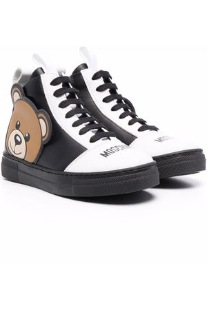 Moschino Teddy-patch high-top trainers
