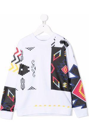 Marcelo Burlon County Of Milan Kids Patchwork cotton sweatshirt