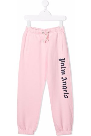 Palm Angels CLASSIC OVER LOGO JOGGING PINK NAVY BLUE